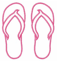 Beach Flip Flops embroidery design
