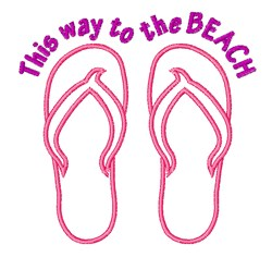 Way to the Beach embroidery design