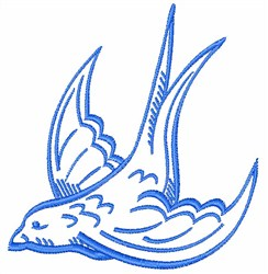 Swallow Outline embroidery design
