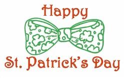 St. Patricks Tie embroidery design