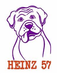 Heinz 57 embroidery design