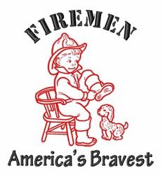 Americas Bravest embroidery design