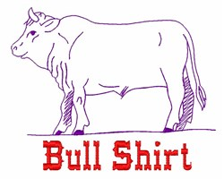 Bull Shirt embroidery design