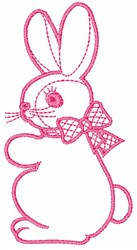 Bunny Outline embroidery design