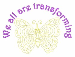 All Are Transforming embroidery design