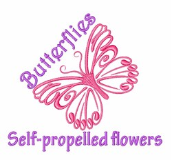 Self-propelled Flowers embroidery design