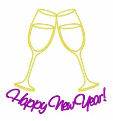 Happy New Years embroidery design