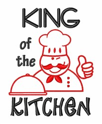 Kitchen King embroidery design