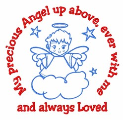Precious Angel embroidery design