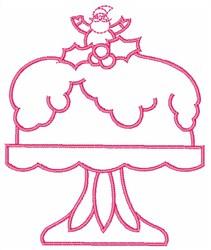 Christmas Cake embroidery design