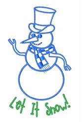 Let in Snow embroidery design
