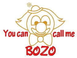 Call Me Bozo embroidery design