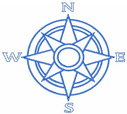 Compass Outline embroidery design