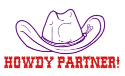Howdy Partner embroidery design