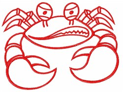 Cranky Crab embroidery design