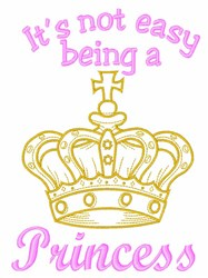 A Princess embroidery design