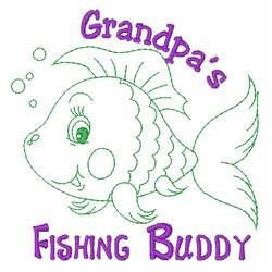 Fishing Buddy embroidery design
