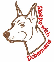 Sleeps With Dobermans embroidery design