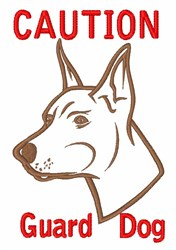 Guard Dog embroidery design