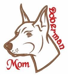 Doberman Mom embroidery design
