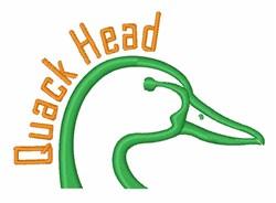Quack Head embroidery design