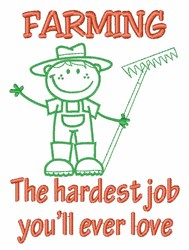 Hardest Job embroidery design