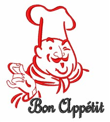 Bon Appetit embroidery design