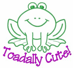 Toadally Cute embroidery design