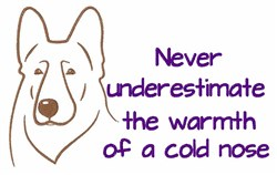 A Cold Nose embroidery design