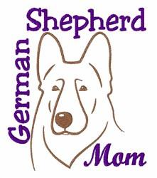 Shepherd Mom embroidery design