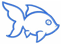 Goldfish Outline embroidery design