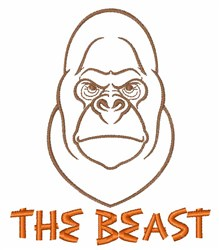 The Beast embroidery design