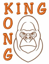 King Kong embroidery design