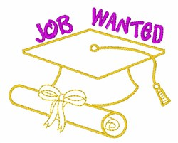 Job Wanted embroidery design