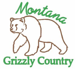 Montana Grizzly  embroidery design