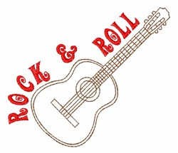 Rock & Roll embroidery design