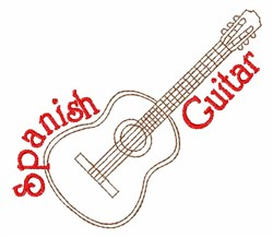 Spanish Guitar embroidery design