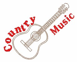 Country Music embroidery design