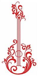 Guitar Flower embroidery design