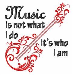 I Am Music embroidery design
