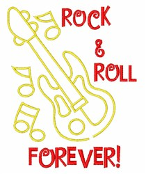 Rock Forever embroidery design