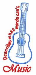 Describe Music embroidery design
