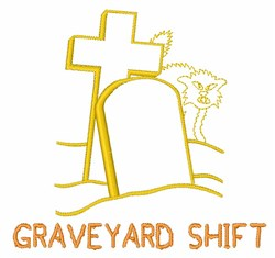 Graveyard Shift embroidery design