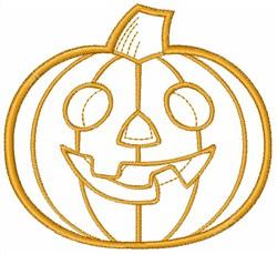 Pumpkin Outline embroidery design