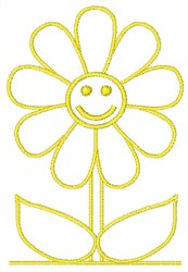 Happy Face Flower embroidery design