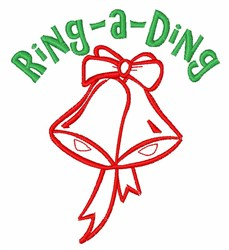 Ring A Ding embroidery design