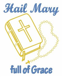 Hail Mary embroidery design