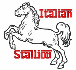 Itallion Stallion embroidery design