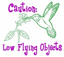 Flying Objects embroidery design