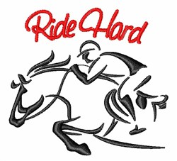 Ride Hard embroidery design